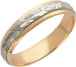 Обручальное крутящееся кольцо из золота с алмазной огранкой, ширина 4 мм 01О760021
