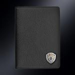 Кожаная обложка для паспорта СК РОССИИ (эмблема серебро 925 пробы)