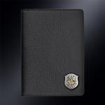 Кожаная обложка для паспорта ВВС РОССИИ (эмблема серебро 925 пробы)