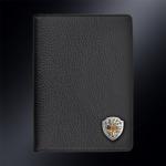 Кожаная обложка для паспорта МЧС РОССИИ (эмблема серебро 925 пробы)