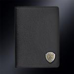 Кожаная обложка для паспорта ПРОКУРАТУРА РОССИИ (эмблема серебро 925 пробы)