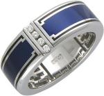 Оригинальное кольцо из золота с бриллиантами и эмалью 01Т674769Э