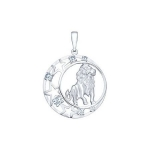 Подвеска знак зодиака из серебра с фианитами 94030090
