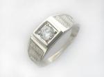 Перстень из серебра с фианитами 45Т150063