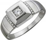 Перстень из серебра с фианитами Е12Т15040206