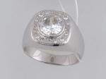 Перстень из серебра с фианитами Е6К152322Р