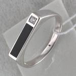 Перстень из серебра с фианитами и агатами С15Т450166