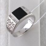 Перстень из серебра с фианитами и агатами С15Т451523