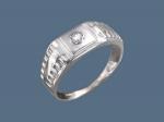 Перстень из серебра с фианитами К5Т150120