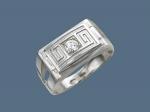 Перстень из серебра с фианитами К5Т150133