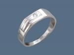 Перстень из серебра с фианитами К5Т150198