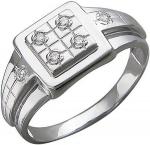 Перстень из серебра с фианитами квадратной формы Е12Т15040200