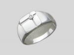 Перстень из серебра с фианитами Р3Т1501277