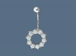Пирсинг из серебра с фианитами Р3И1506014