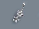Пирсинг из серебра с фианитами Р3И1506015