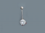 Пирсинг из серебра с фианитами Р3И1506055