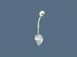Пирсинг из серебра с фианитами Р3И1506066