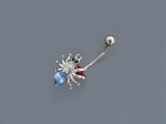 Пирсинг из серебра с фианитами Р3И2506001