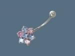 Пирсинг из серебра с фианитами Р3И2506047