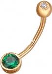 Пирсинг из золота с фианитами 01И210018-1