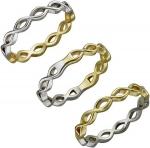 Плетеное кольцо из комбинированного золота 01К068420Ж