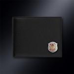 Кожаное портмоне ВИТЯЗЬ (эмблема серебро 925 пробы)