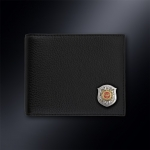 Кожаное портмоне МВД РОССИИ (эмблема серебро 925 пробы)
