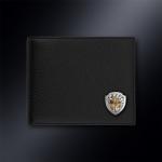 Кожаное портмоне МЧС РОССИИ (эмблема серебро 925 пробы)