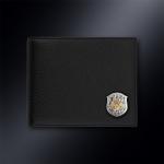 Кожаное портмоне Министерство Обороны РОССИИ (эмблема серебро 925 пробы)