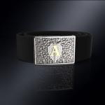 Серебряная пряжка ЦСН АЛЬФА (серебро 925 пробы) + ремень