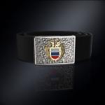 Серебряная пряжка ФСО РОССИИ (серебро 925 пробы) + ремень