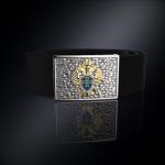 Серебряная пряжка ФПС РОССИИ (серебро 925 пробы) + ремень