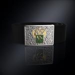 Серебряная пряжка ФТС РОССИИ (серебро 925 пробы) + ремень