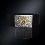 Серебряная пряжка Прокуратура РОССИИ (серебро 925 пробы) + ремень