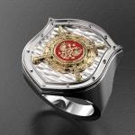 Серебряный перстень МВД РОССИИ (серебро 925 пробы)