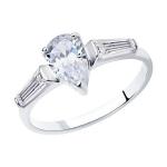 Кольцо из серебра с фианитами 94012745