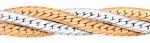 Цепочка «Панцирная» сколоченная с алмазной огранкой 2-х сторон сплетенная в «косу» из 3-х полотен параллельно 14-025.
