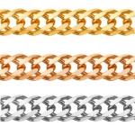 Цепочка плетения Двойной Ромб с алмазной огранкой