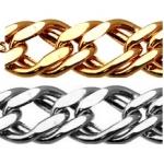 Цепь золотая легкая плетения Двойной ромбо 8030154