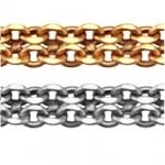 Цепь золотая легкая плетения Бисмарк плоский 8050202