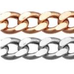 Цепь золотая легкая плетения Панцирная 12-002PG