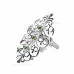 Серебряное кольцо Узор Утум K086