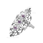 Серебряное кольцо Узор Утум K086-1