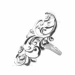 Серебряное кольцо Узор Утум K082