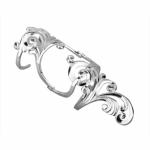 Серебряное кольцо на две фаланги Узор Утум K137