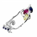 Серебряное кольцо Узор Утум K142