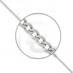 Браслет из платины плетение Гурмета с алмазной гранью 41-002