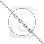 Цепочка из платины плетение плетение Ролло с удлиненным звеном с алмазной гранью 41-206-1