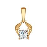 Подвеска «Знак зодиака Рак» из красного золота 034953
