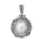 Серебряные часы-кулон SAW764